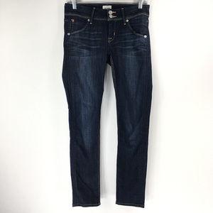 Hudson 26 Dark Wash Skinny Jeans Flap Pockets